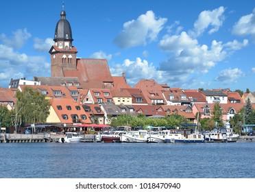 Town of Waren at Lake Mueritz,Mecklenburg Lake District,Germany