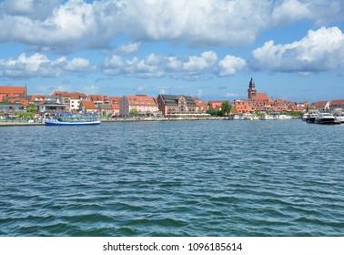 Town of Waren (Mueritz) in Mecklenburg Lake District,Germany