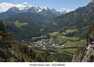 Town of Werfen in Austrian alps