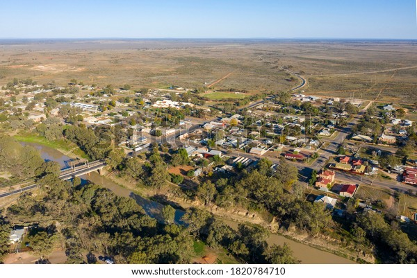 The town of Wilcannia in the far outback of New South Wales on the banks of the Darling river.