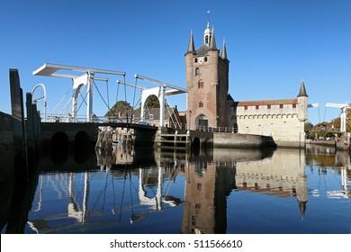 The town Zierikzee in the neteherlands