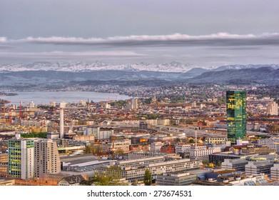 Town of Zurich (Switzerland), HDR-technique