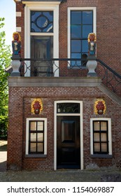 Townhall of Dutch village Balk, Friesland; part of front gable