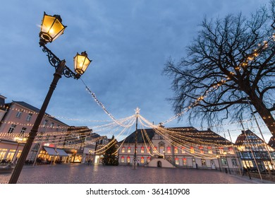 the townhall place lippstadt germany in the evening