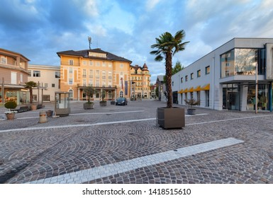 The townhall in Velden am Worthersee in early morning. Austria Europe