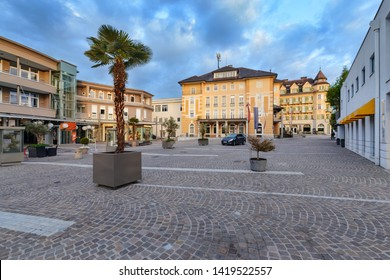 The townhall in Velden am Worthersee in the morning. Austria Europe