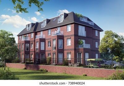 Townhouse in London; 3D render, 3D illustration; 300 dpi