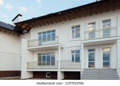 townhouse white two-story