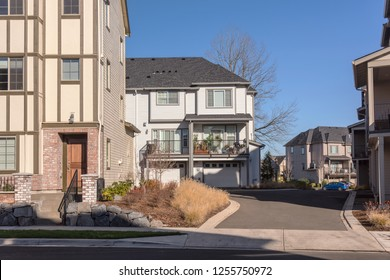 Townhouses and apartments in a neighborhood Wilsonville Oregon.