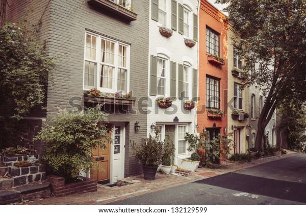 Townhouses In Georgetown, Washington DC