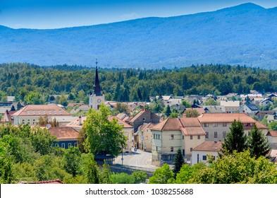 Townscape of Crnomelj, Bela Krajina (White Carniola) region in Slovenia, Europe. - Shutterstock ID 1038255688