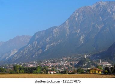 Townscape of Gemona del Friuli, in the autonomous region of Friuli, at the foot of the Julian Alps