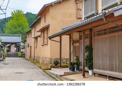 Townscape of the Izushi castle town in Hyogo, Japan