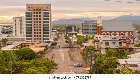 Townsville, Australia. October 2017 - View of Townsville City in the early morning