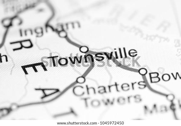 Map Of Australia Townsville.Townsville Australia On Map Stock Photo Edit Now 1045972450