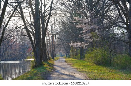 The towpath along the Delaware-Raritan canal in Princeton, New Jersey