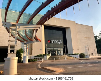 TOWSON, MD, USA - JULY 20, 2018: Macy's store front exterior at the Towson town center.