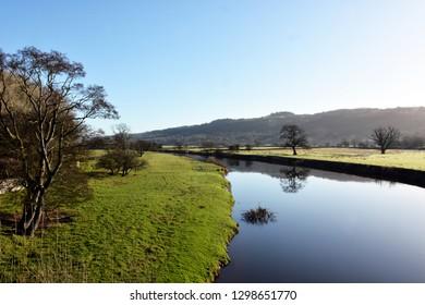 The Towy River at Dryslwyn, Carmarthenshire, Wales.