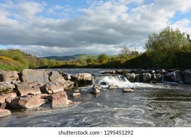 The Towy River Near Bethlehem, Carmarthenshire, Wales.