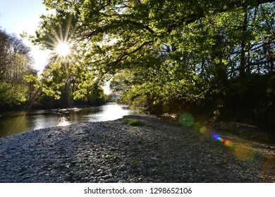 The Towy River Near Carmarthen, Carmarthenshire, Wales.