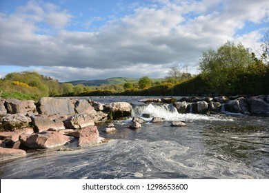 The Towy River Near Llangadog, Carmarthenshire, Wales.