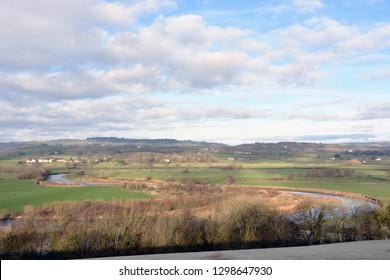 The Towy Valley near Llandeilo, Carmarthenshire, Wales.