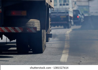 Toxic smoke is seen from a truck exhaust pipe in Sao Paulo, Brazil.