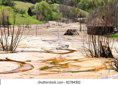 Toxic waste from mining  exploitation