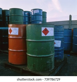 Toxic waste at waste treatment facility, UK