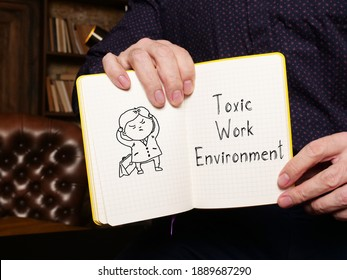 Toxic Work Environment is shown on the conceptual business photo