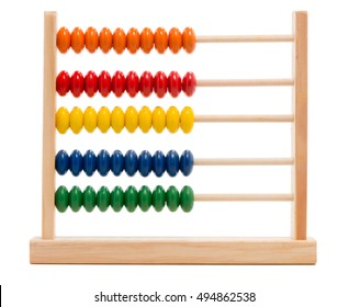 Toy abacus on white
