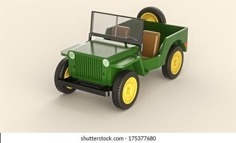 Toy army car