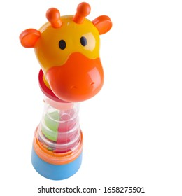 Toy or baby giraffe toys on the background new
