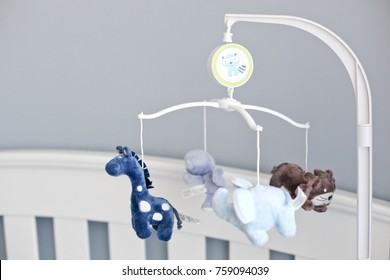 toy baby mobile with plush animals