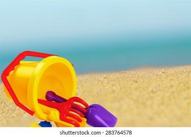Toy, Beach, Bucket.