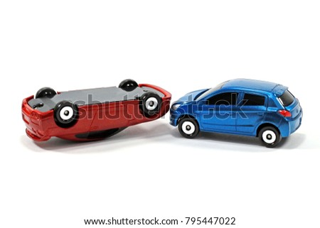 Toy Car Crash Accident On White Stock Photo Edit Now 795447022