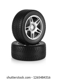 Toy Car Tire Isolated on a White Background