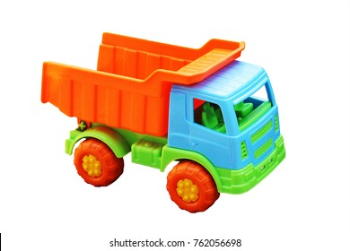 toy car the truck isolated on a white background, plastic