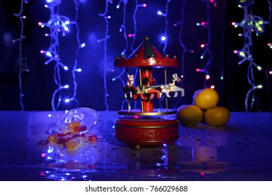 Toy carousel, Christmas, New year