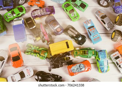 A lot of toy cars