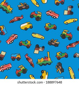 Toy cars seamless wallpaper or background