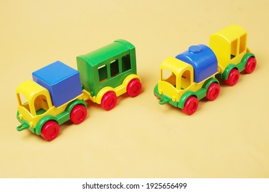 Toy cars and trucks. Transport.