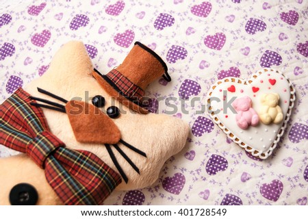 toy cat hat bow tie on stock photo edit now 401728549 shutterstock