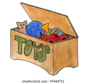 toy chest chest toys toy box stock illustration 97444715 shutterstock rh shutterstock com Toy Drive Clip Art Toy Store Clip Art