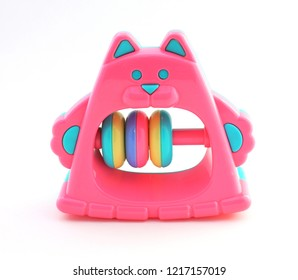 Toy for children - clack, beanbag. Isolated on white background.