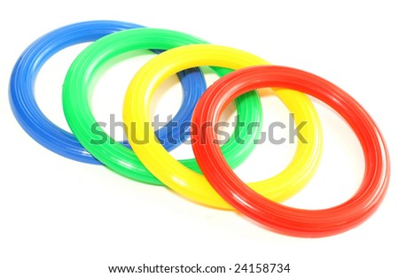 toy color plastic rings isolated on stock photo edit now 24158734