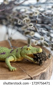 toy crocodile eats a bump