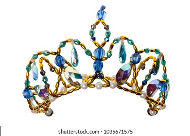 toy crown isolated on white