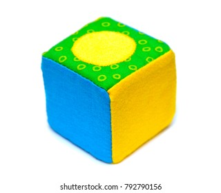 toy cube isolated on white