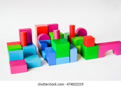 Toy cubes as the material for building an abstract city